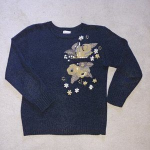 Vintage Mondi Flower Motive Sweater Size 36=Small